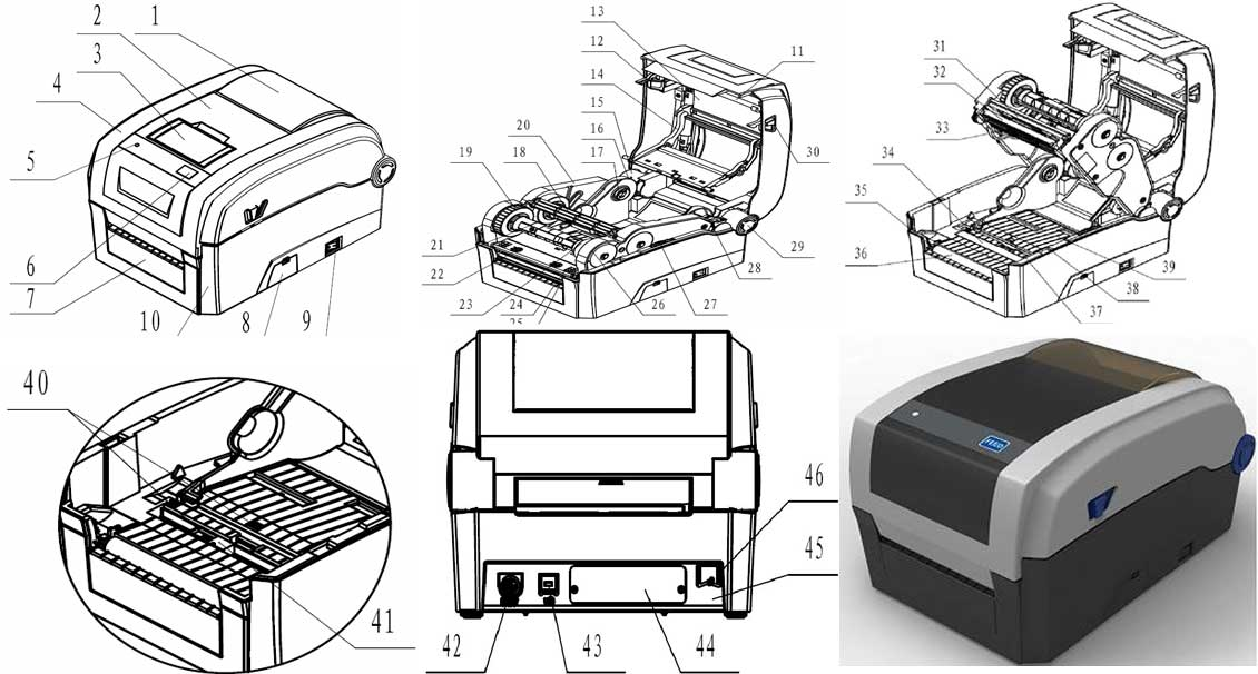 Máy in mã vạch Antech 3310E (300dpi)