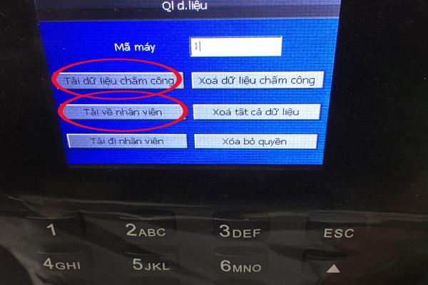 Hướng dẫn tải dữ liệu chấm công vào USB trên máy chấm công vân tay k70